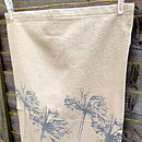Plain Agapanthus tea towel