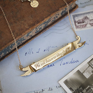 'We All Have A Story To Tell' Scroll Necklace - jewellery for women