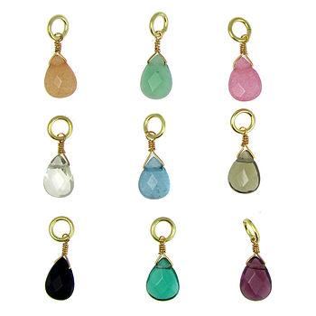 Charm Selection Teardrop Beads Gold
