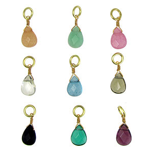 Teardrop Bead Charm Selection - necklaces & pendants