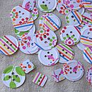 Rainbow Paper Button Confetti