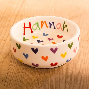 Personalised Love Heart Small Bowl