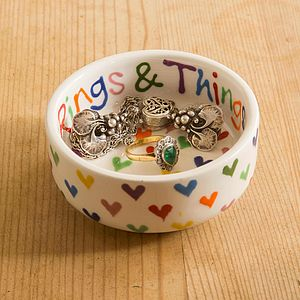 Personalised Love Heart Small Bowl - for children