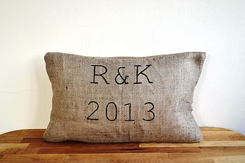 Personalised Hessian Cushion