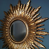Antique Gold Sunburst Mirror - home
