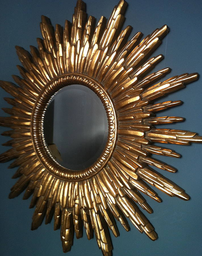 Antique Gold Sunburst Mirror By The Forest Amp Co