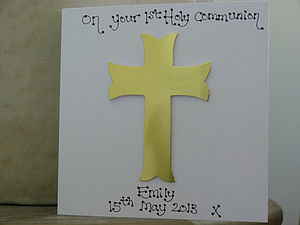 Personalised Holy Communion/Confirmation Card - christening cards