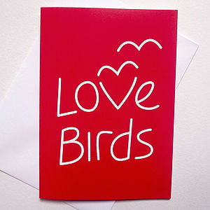 Anniversary Card 'Love Birds' - wedding, engagement & anniversary cards
