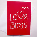 Anniversary Card 'Love Birds'