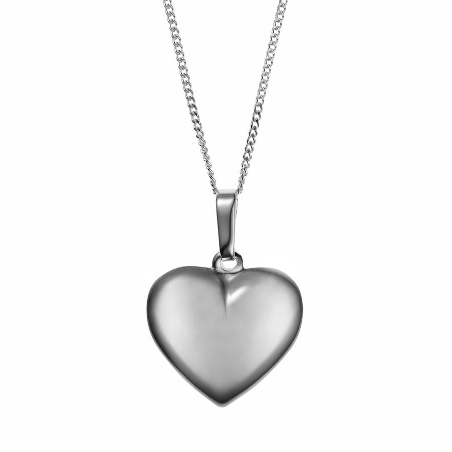 Silver heart necklace by baronessa notonthehighstreet silver heart necklace aloadofball Gallery