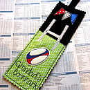 Personalised Rugby Bookmark
