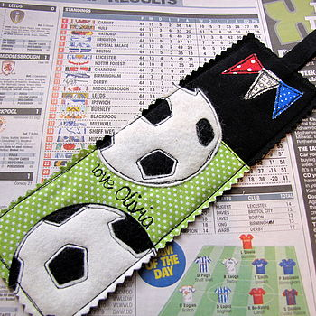 Personalised Football Bookmark