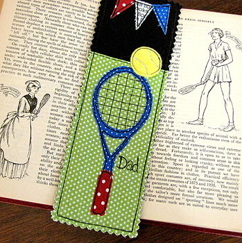 Personalised Tennis Bookmark