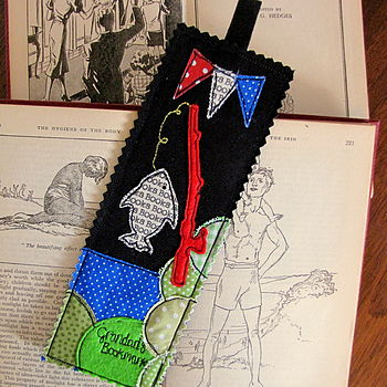 Personalised Fishing Bookmark