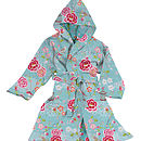 PiP Studio Birds of Paradise Bathrobe BLue