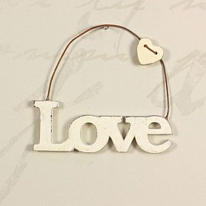 Hanging Cut Out Love Word Sign - home accessories