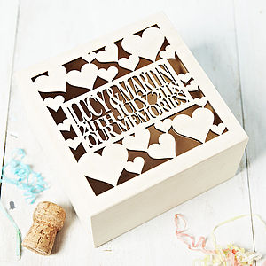 Personalised Anniversary Keepsake Box - by year