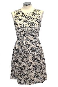 Printed Lace Skater Dress - dresses