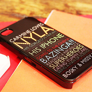 Personalised Case For IPhone In Black - gifts for her