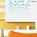 Geometric Triangles Vinyl Wall Sticker Set