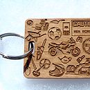 Personalised Man Themed Keyring With Torch