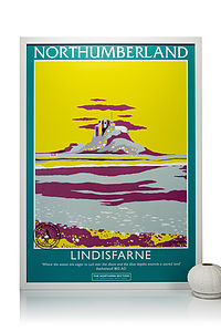 Lindisfarne Poster - modern & abstract
