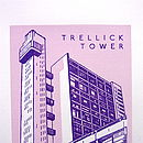 Trellick Tower Silk Screen Print