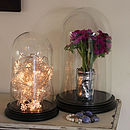 Wedding Glass Dome Display With Black Base