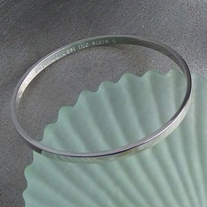 Personalised Silver Bangle - jewellery for women