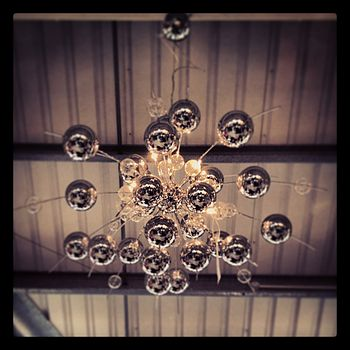 Contemporary Chrome Globe Detailed Chandelier