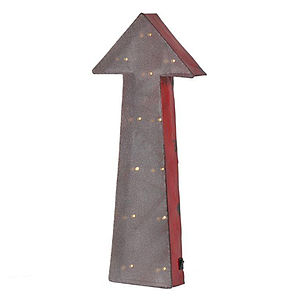Metal Arrow With Lights - ornaments