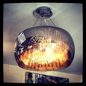 Smoked Glass Shimmering Chandelier Ceiling Light - home sale