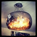 Smoked Glass Shimmering Chandelier Ceiling Light