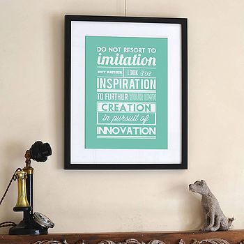 'Innovation' Typographic Print