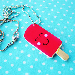 Summer Lolly Acrylic Necklace - children's jewellery