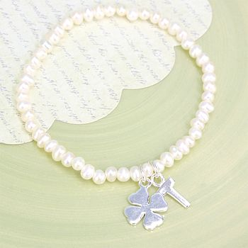Personalised Seed Pearl Good Luck Bracelet