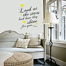 'Look At The Stars Coldplay' Wall Sticker