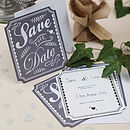 Vintage Style 'Save The Date' Cards