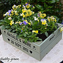 Personalised Medium Crate With Summer Bulbs