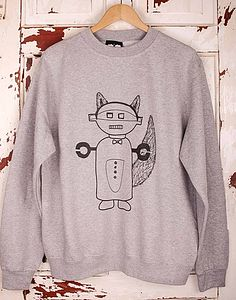 'Wolf Bot' Jumper - t shirts and tops