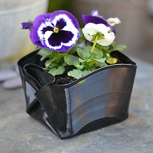 Folded Vinyl Record Plant Pot - garden & outdoors