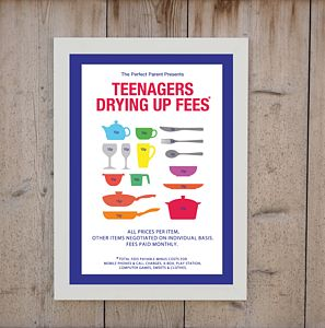 'Teenagers Drying Up Fees' Print