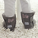 Personalised Grey Sheepskin Booties