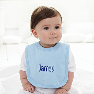 Set Of Three Personalised Baby Bibs