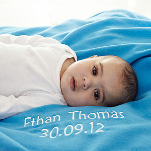 Personalised Fleece Baby Blanket - baby & child