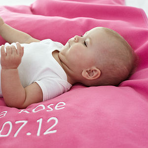 Personalised Girl's Fleece Blanket - baby care
