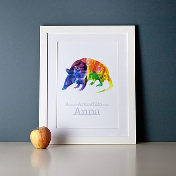 Personalised Typographic Animal Print