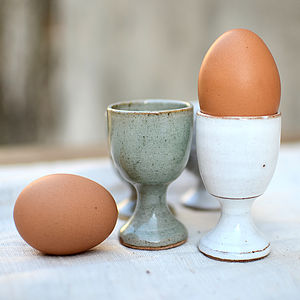Hand Moulded Classic Egg Cup - tableware