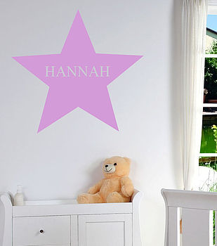 Personalised Name Wall Art Star