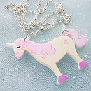 Girl's Unicorn Acrylic Necklace Gift